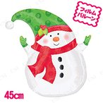 """取寄品  チャーミィパック 18""""SHP ウィンタースノーマン 5点セット クリスマスパーティー パーティーグッズ 雑貨 クリスマス飾り 装飾 デコ"""
