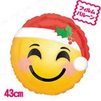 """取寄品  チャーミィパック 17""""サンタハットエモジ 5点セット クリスマスパーティー パーティーグッズ 雑貨 クリスマス飾り 装飾 デコレーション"""