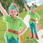 ハロウィンコスプレ衣装仮装コスチュームピノキオ風緑グリーンキッズ子供用男の子「ファンタジーボーイ子供140」