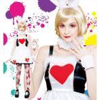 うさぎアリスラビット仮装ハロウィンコスプレ衣装仮装コスチューム「ワンダーラビットガールLadies」