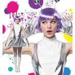 ハロウィンコスプレ衣装仮装コスチューム宇宙人SF火星人女性用レディース「キュートエイリアン」