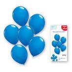 「ゴム風船25cm丸型ブルー6枚入」バルーン 装飾 飾り付け お誕生日 お祝い イベント パーティー 飾りつけ