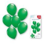 「ゴム風船25cm丸型グリーン6枚入」バルーン 装飾 飾り付け お誕生日 お祝い イベント パーティー 飾りつけ