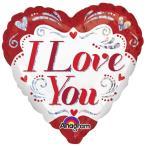 バレンタイン バルーン 飾り付け 「アイラブユーファンシープリズム」 風船 ディスプレイ 飾り