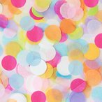 Yahoo!パーティーパラダイス「コンフェッティ ラウンド マルチカラー」紙ふぶき 紙吹雪 結婚式 誕生日 バースデー ブライダル ウェディング バレンタイン イベント 装飾品 飾りつけ
