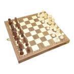 ボードゲーム チェス チェス盤 「木製 チェスセット」 入門セット