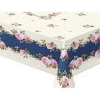 テーブルクロス コンプリートクロスシリーズ(complete) 120cm×150cm ダークブルー コルドバ DBL花柄 ズレにくい 食卓 割引不可