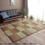 い草ラグカーペット 『DXモーセ』 ブラウン 約180×240cm 8186980和洋折衷 畳 洋室 割引不可