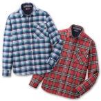 TULTEX タルテックス 裏フリースあったかボンディングシャツ2色組 LX69520 チェックネイビー、チェックレッド M/L/LL/3L