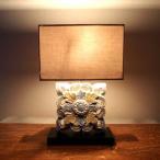 木彫りテーブルランプ アンティーク アジアン照明 アジアンランプ リゾート ビーチ