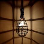 アイアン ガラスランプ DECO ガラスランプ ペンダントランプ アンティーク アジアン照明 アジアンインテリア
