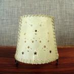 アジアン雑貨 バリ小物:牛革のキャンドルホルダー丸型