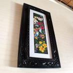 アジアン雑貨 バリ絵画:花鳥風月水彩画 インコLサイズ