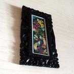 アジアン家具 バリ絵画:花鳥風月水彩画 極楽鳥Sサイズ