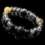 (パワーストーン メンズ)3種の輝きが魅せる個性(X・G)ルチルクォーツブレスレット パワーストーン/天然石/ギフト