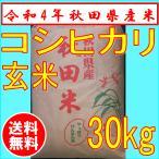 コシヒカリ 30kg 玄米 秋田県産 1等米 お米 29年産新米 精米可 送料無料
