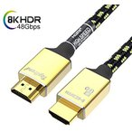 0.9m) HDMI ケーブル Toptrend 8K HDMI2.1ケーブル 48Gbps 3重シールドノイズ対策 28AWG銅導体 CL