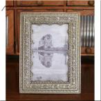 レクタングル クレスト フォトフレーム シルバー アンティーク調 写真立て ディスプレイ 結婚式 ブライダルフレーム 結婚写真