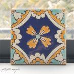チュニジアタイル K 手描き タイル S チュニジア モロッコ テラコッタ
