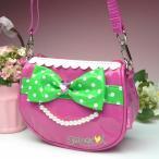 ショッピングポシェット 送料無料 子どもバッグ 子供 ショルダーバッグ 可愛い大きなリボンがポイント 子ども用バッグ/ショルダーバッグ/ポシェット 斜めがけ
