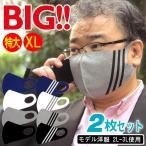 マスク 大きいサイズ 特大 ll xl 男性 2枚セット