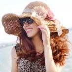 帽子 レディース 夏のリゾートぴったりのレディース麦わら帽!つば広の女優帽で小顔効果もバッチリ 紫外線対策 日焼け対策に麦わら帽子