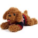 ぬいぐるみ くま テディベア クリスマスプレゼント ASH LOVERS ぬいぐるみ 犬 リアル  プードル ぬいぐるみ アメリカ柄セーターが可愛いトイプードル