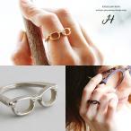 リング 指輪 アンティーク加工 メガネモチーフ デザイン (ホークカンパニー) HAWK COMPANY