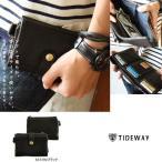 Tideway[タイドウェイ] 『日本製』 ソフト本レザー セパレート可能 3つ折 コンパクト ウォレット(5色)