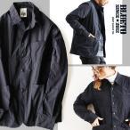 秋新作 (ブルート) BLUETO 長袖 シャツ ジャケット アシンメトリー 形状記憶 メモリーエステル