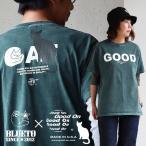 【予約販売】(グッドオン) GOOD ON 半袖 クルーネック Tシャツ GOODONプリント 顔料染め加工 USAコットン 日本製