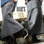 スカート マキシ丈 スカート ミリタリー ベイカー ビッグポケット 綿100% カツラギ (オールズ) OAR'S