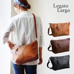 (レガートラルゴ) Legato Largo ショルダー バッグ PUレザー レディース ブラック ブラウン キャメル ネイビー 鞄 A4