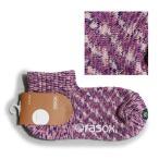 ソックス 靴下 アンクル スプラッシュロウ 日本製 ネップコットン メンズ レディース 杢調  L字 (ラソックス) rasox