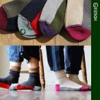 高襪 - (ラソックス) rasoxミドル丈 ソックス made in japan 日本製 【スポーツクルー】 配色切り替え 3色