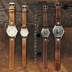 時計 ウォッチ 腕時計 レザー  ペアウォッチ ラウンドケース 手巻き ムーブメント アナログ 電池式