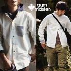 長袖シャツ カラフル スナップボタン 2WAYカラーデザイン ポケット 袖 ボーダー切り替え  (ジムマスター) gymmaster