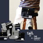 ウエストバッグ 刺し子生地 日本製 革 ベルト メンズ レディース THE CANVET×SAIL