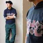 ニット切り替えTシャツ 半袖 ニット 切替 ジャガード カットソー レディース メンズ (ジーアールエヌ) grn