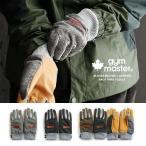 手袋 メルトン×レザー切り替え 裏ボアフリース使い 5本指手袋 グローブ (ジムマスター) gymmaster