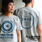 【予約販売】半袖 Tシャツ 7.1オンス USコットン ヘビーウェイト 【globe】  プリント (ブルート) BLUETO