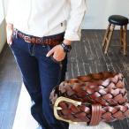 ベルト 編みベルト メッシュベルト 四つ編み フリーサイズ レザー 革 レディース メンズ 40代 50代 おしゃれ 細ベルト バックル