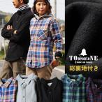 TOneontoNE 長袖シャツ メンズ ネルシャツ フリース カジュアルシャツ チェックシャツ あったか メンズ レディース