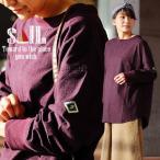 SAIL チュニック シャツ 長袖 プルオーバー ワイドシルエット ボートネック 「配色 リブ 切り替え」 綿100% ビエラ起毛 レディース
