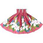 フラダンス衣装 ・ピンクのパウスカート プルメリア パラパライ柄 2567Pi