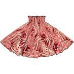パイピングパウスカート 赤とクリーム色のパウスカート ヤシ・バナナリーフ柄 ブラックのパイピング pip-2752RDCR-black