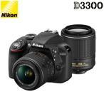 ニコン デジタル一眼レフカメラ D3300 ダブルズームキット2 D3300WZ2-BK ブラック