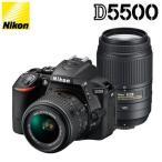 ニコン デジタル一眼レフカメラ D5500 ダブルズームキット D5000シリーズ D5500-WZK-B ブラック