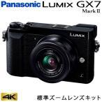 パナソニック ミラーレス一眼カメラ ルミックス LUMIX Gシリーズ GX7MK2K 4K 標準ズームレンズキット DMC-GX7MK2K-K ブラック