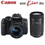 キヤノン デジタル一眼レフカメラ EOS Kiss X8i ダブルズームキット EOSKiss-X8i-WKIT